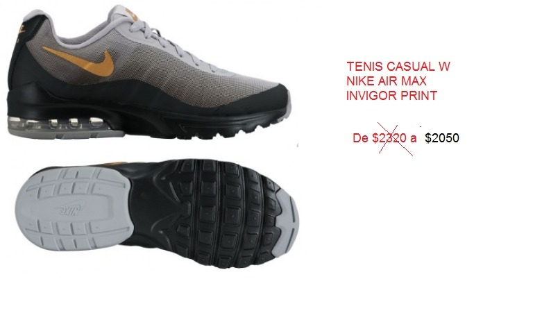 f58eca7d46e Tenis Casual Nike Air Max Invigor Print -   2