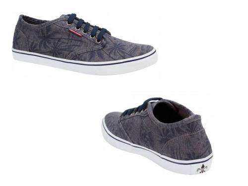 tenis casual urban shoes 1251 mezclilla azul