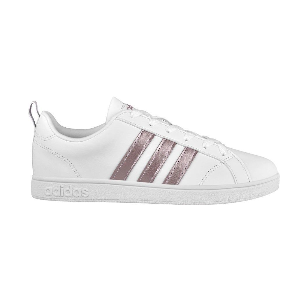 c3ce98435c1 Tenis Casuales adidas Para Mujer Simipiel Blanco Con Rosa Aw ...