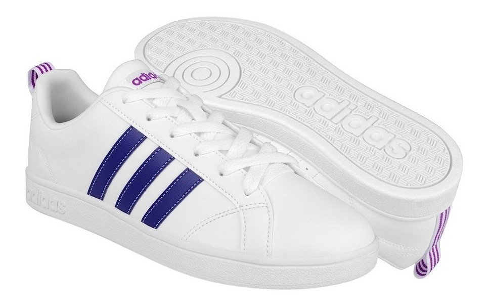 Tenis Casuales adidas Mujer Simipiel Blanco-púrpura Bb9620
