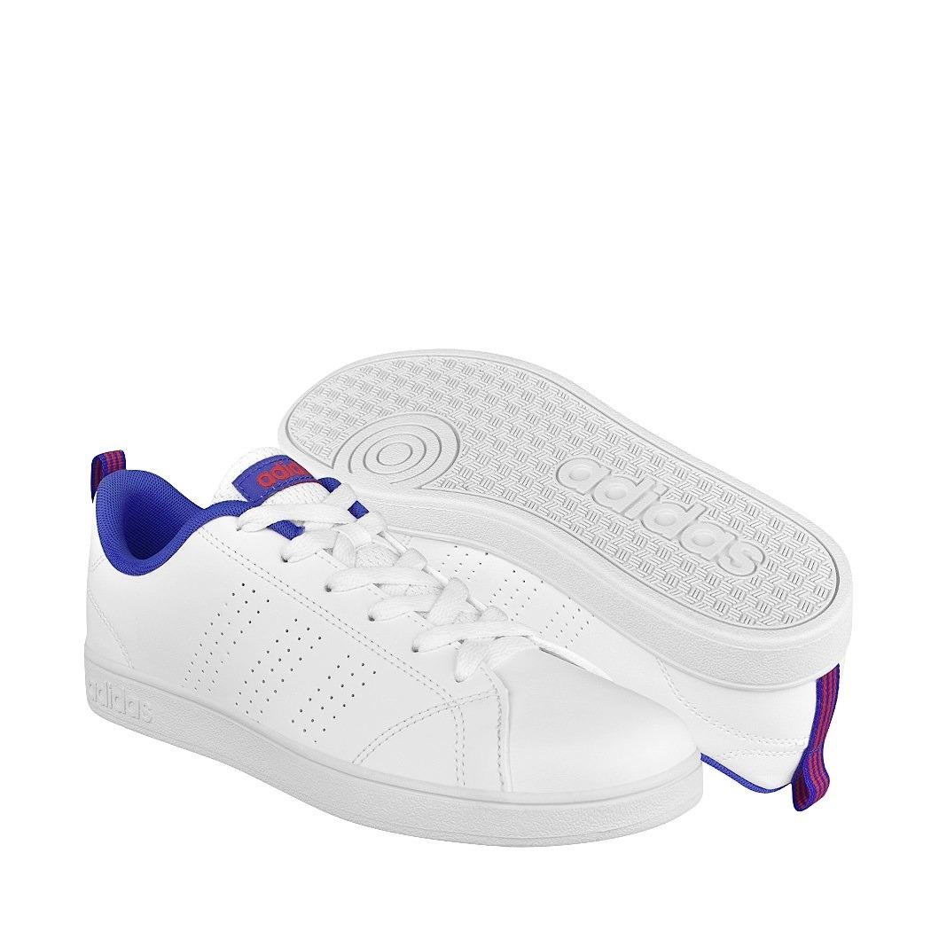 bf15911049b tenis casuales adidas para mujer simipiel blanco con azul db. Cargando zoom.