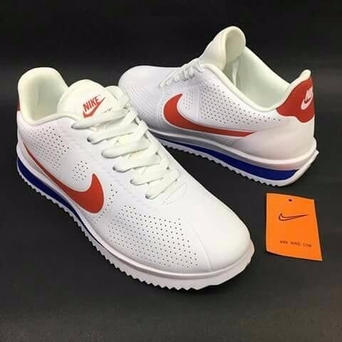 hot sale online fb9e6 ae8f6 Tenis Casuales Nike Cortez Forest Gump Blancos Rojo Y Azul