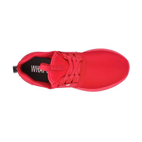 tenis casuales para dama what´s  172798 rojo