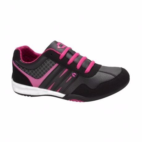 tenis casualrs de mujer negro rosa mexicano