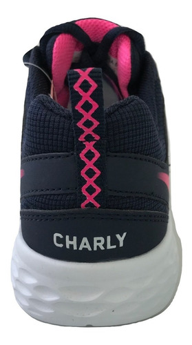 tenis charly mujer 1049200 mn casual deportivo correr textil