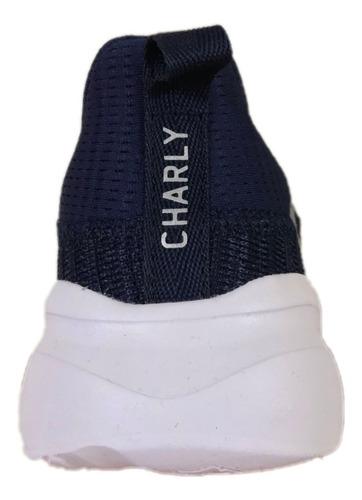 tenis charly mujer 1049505 marino textil deportivo running