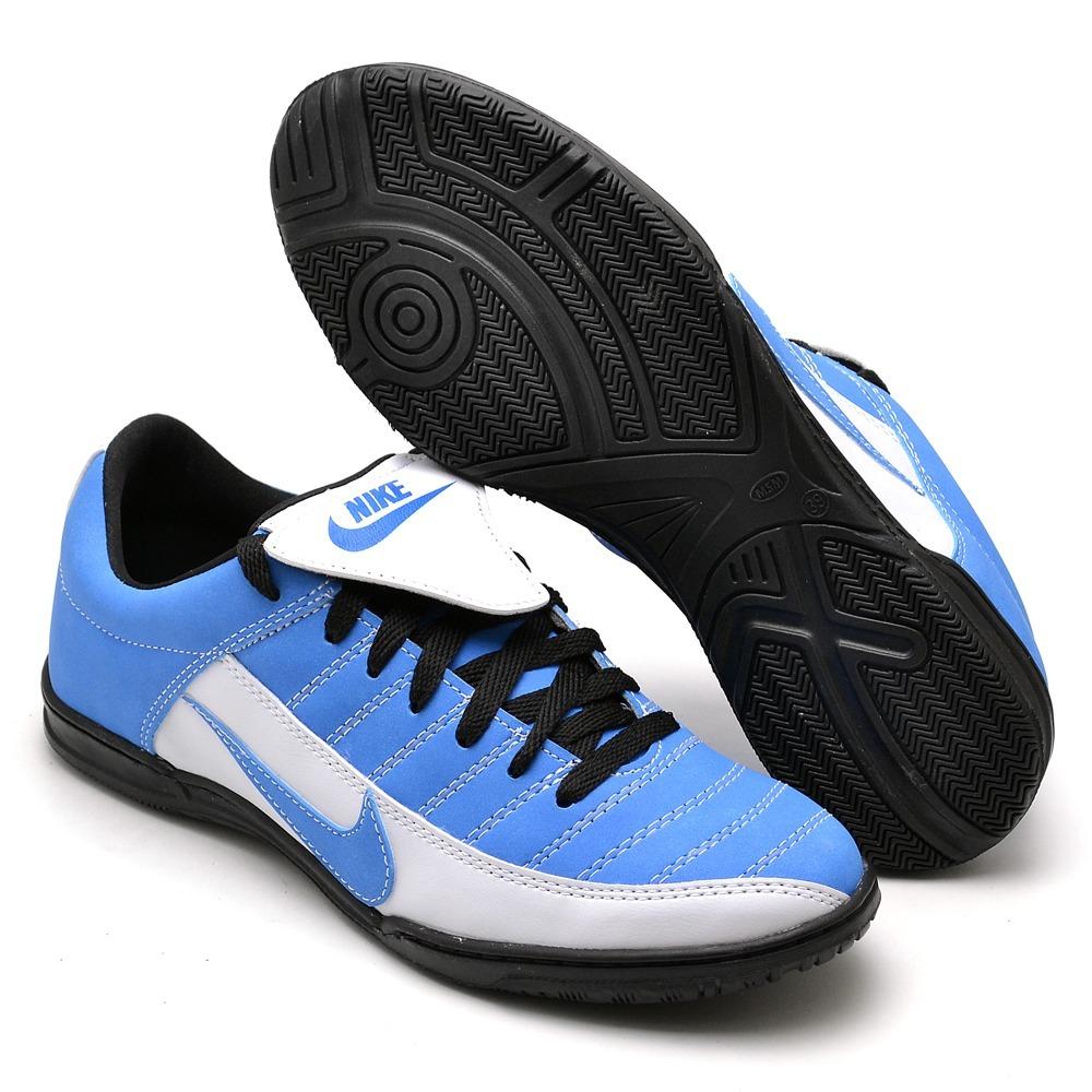 Tenis Chuteira Futsal Couro Ecológico Com Bolsa Promoção - R  120 4524cc0123472