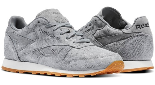 tenis classic leather clean exotics mujer reebok bs8228