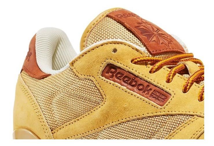 Reebok Classic Leather OL Calzado amarillo marrón estilo de