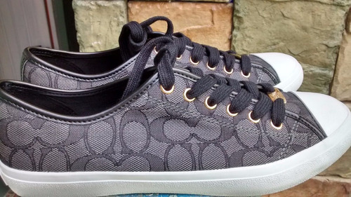 tenis coach empire outline mujer kakhi y negro