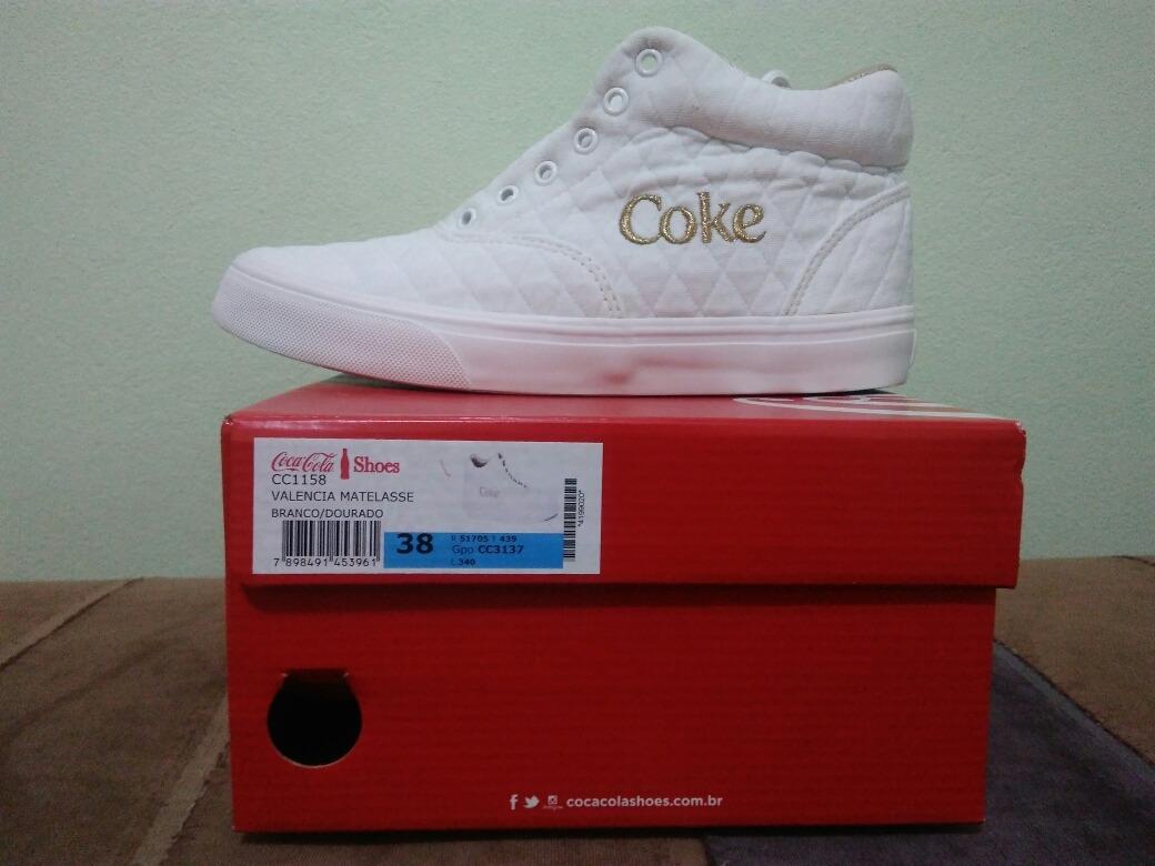 3262d1f5e503c tenis coca-cola shoes valencia matelasse, branco, tamanho 38. Carregando  zoom.