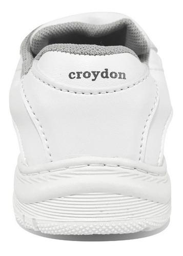 tenis colegiales colegial blancos negros azul croydon