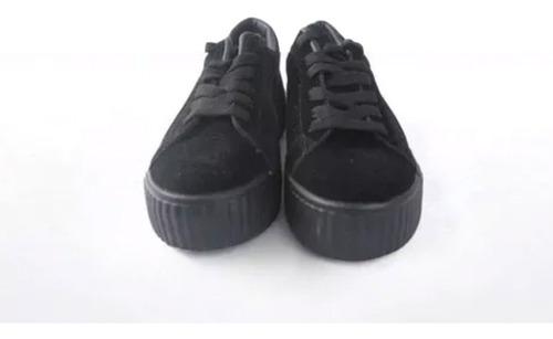 tenis con plataforma-negro