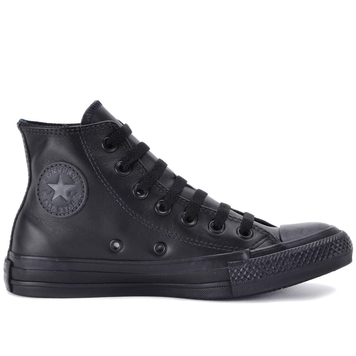 d5995485b8 tenis converse all star monochrome leather hi preto couro. Carregando zoom.