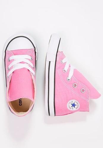 tenis converse bebé bota rosa 11-16.5 mx originales