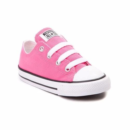 tenis converse bebé rosa 11-16.5 mx originales