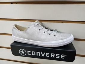 converse gris plata