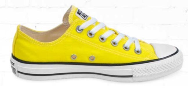converse niño amarillo