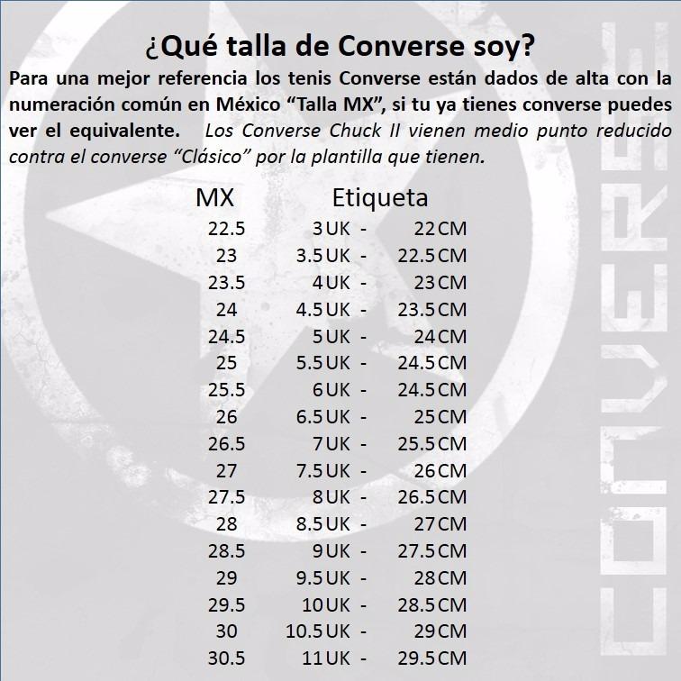 1 2 Negro 190 Chuck En 00 Taylor Converse Tenis Libre Mercado qxCXXU