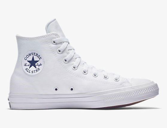 8111c09232745 Tenis Converse Chuck Taylor All Star 2 Hi Top Nuevo Blancos ...