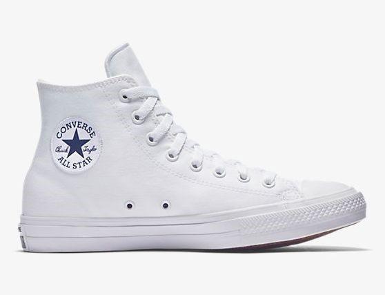 deaf619afae Tenis Converse Chuck Taylor All Star 2 Hi Top Nuevo Blancos ...