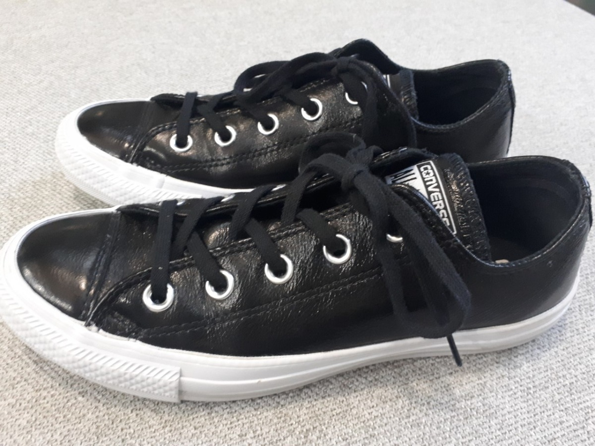 converse all star leather ox mujer