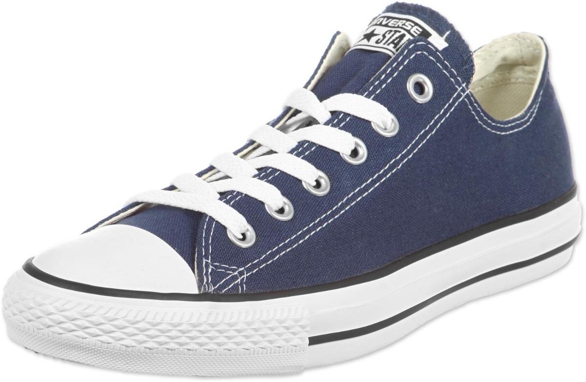 9d678bfcb69d7 Tenis Converse Clásicos Azules Oscuros Unisex