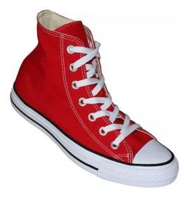 converse rojos de bota