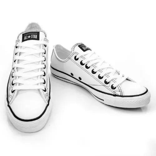 c269ea3283 Tenis Converse Todo Branco Com Solado Marrom - R  65