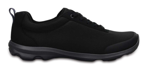 tenis crocs dama busy day stretch lace-up negro