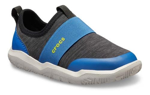 tenis crocs unisex infantil swiftwater easyon azul