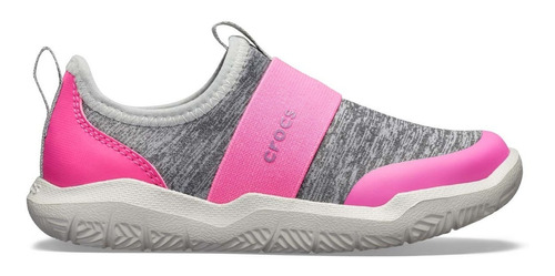 tenis crocs unisex infantil swiftwater easyon rosa