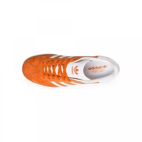 tenis dama adidas gazelle naranja original