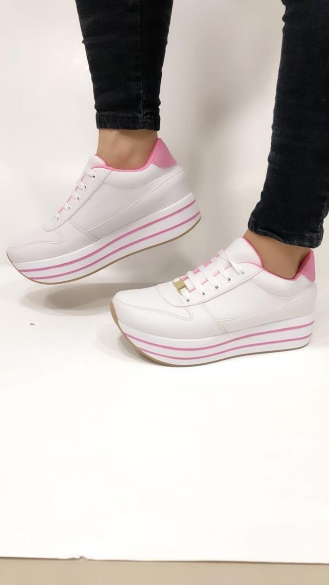 83a619dd34555 tenis dama blanco rosado moda mujer juvenil ultimos modelos. Cargando zoom.