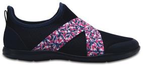 65c02020 Tenis Dama Crocs Swiftwater X-strap Shoe W Azul Marino