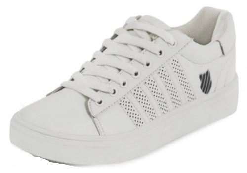 tenis dama k-swiss blanco piel 634-17