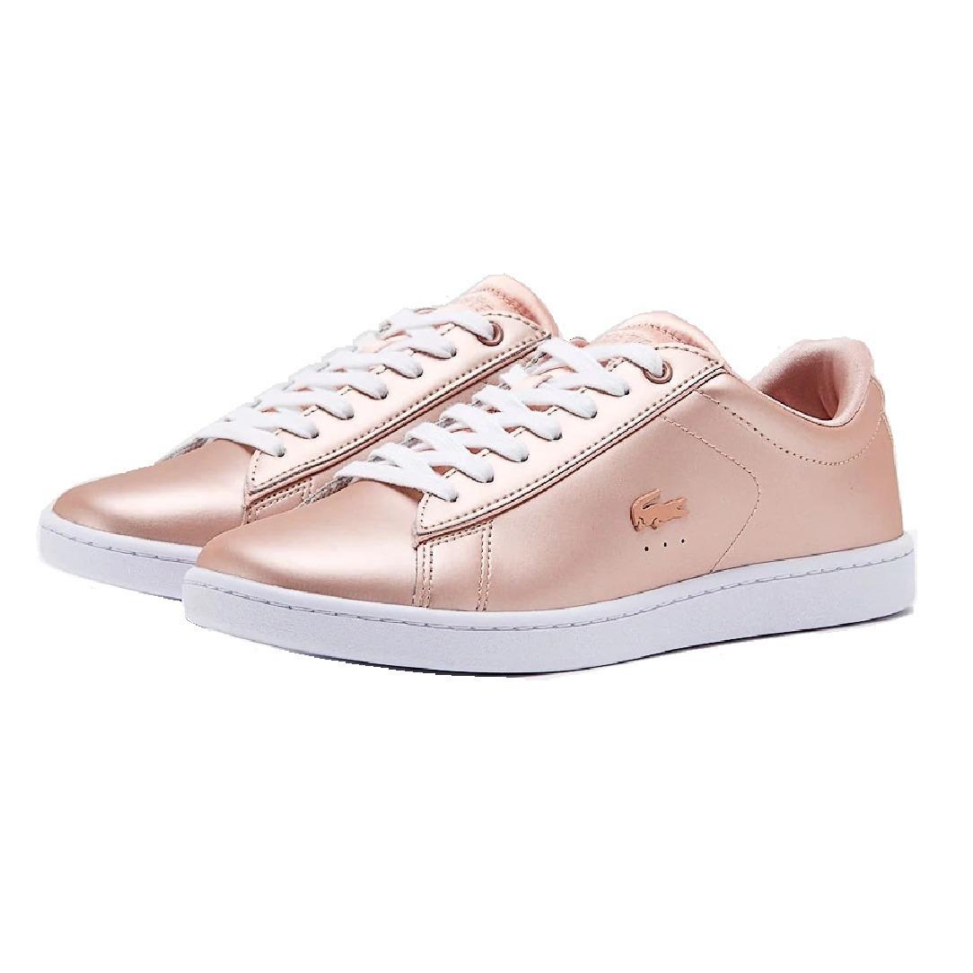 cad961ba8c0 tenis dama lacoste carnaby evo cobre rosa moda urban mujer. Cargando zoom.