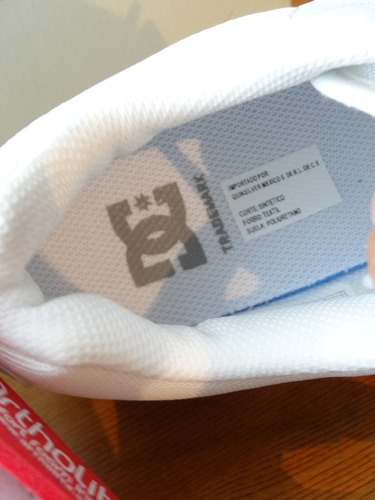tenis dc midway color blancos nuevos #28 originales,caja