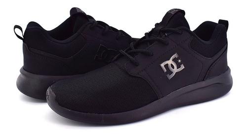 tenis dc midway negro hombre adys700136 blk look trendy