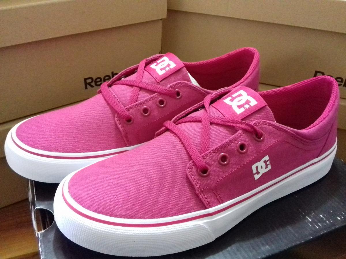 big sale f63ef dfb66 Tenis Dc Shoes De Mujer Color Rosa Nuevos Y Originales