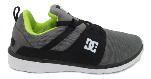 tenis dc shoes heathrow adys700071 xskg grey black green gri