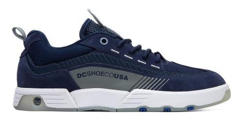 tenis dc shoes legacy 98 slim navy grey original