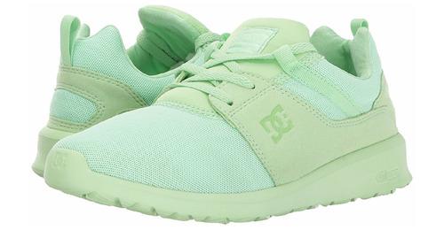 tenis dc shoes women's heathrow color pistachio