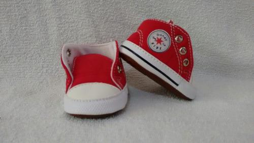 tenis de guante para bebe (unisex) rojo