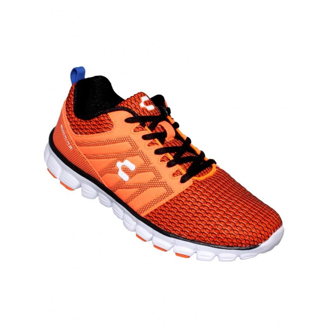 b38de979 tenis de hombre para correr textil sintetico naranja marca c ...