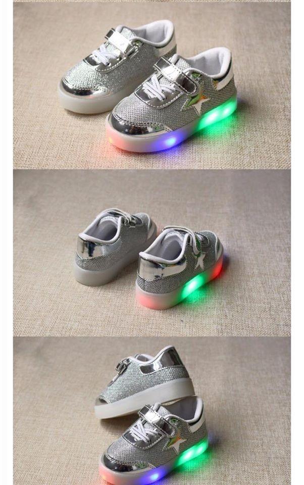 Tenis de luces led de colores ni a color plata - Luces led de colores ...