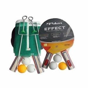 tenis de mesa effecty  kit raquetes bolas e rede 7 poker