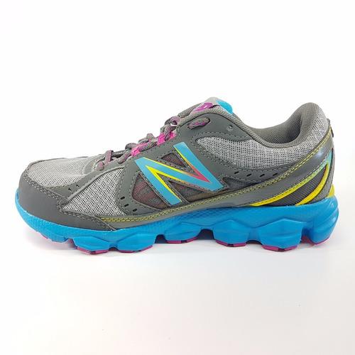 tenis de mujer new balance wr750rb3 gris azul running