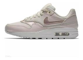 Tenis De Mujer Nike Air Max 1 Gs Beige Piel Original