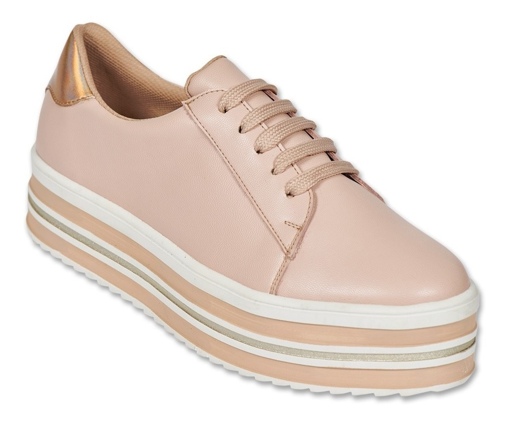 Tenis De Plataforma Color Rosa Para Dama 23 Al 26. 040da1